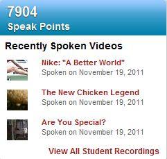 student recordings