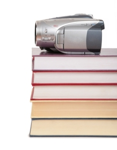 video-camera-on-book-stack