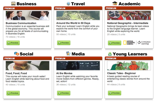 Video courses on EnglishCentral