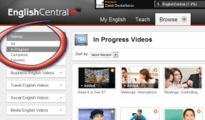 videos in progress