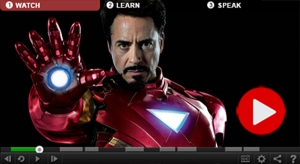 Watch, learn and speak this video lesson to find out more about a young fan's encounter with Iron Man.