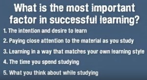 factor in learning